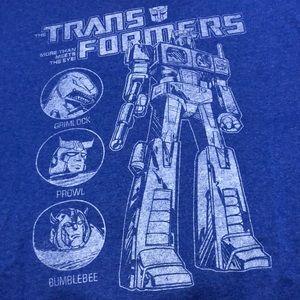 Blue transformers T-shirt (XL)